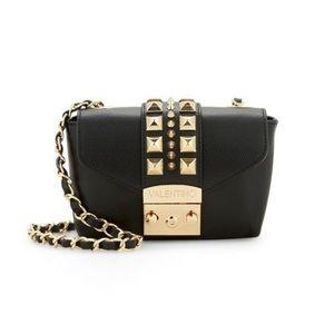 Valentino Paulette Studded Leather Crossbody Bag